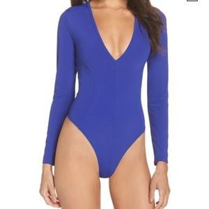 NWT Free People Intimately Plunging Thong Bodysuit